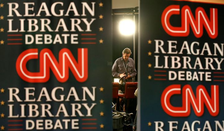 The CNN Spin Room for the GOP debate, which will be held at the Ronald Reagan Presidential Library Wednesday