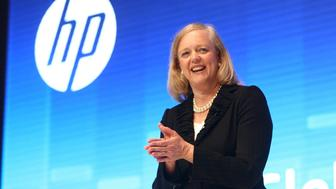 SHANGHAI, CHINA - MAY 09:  (CHINA OUT) Meg Whitman, President and Chief Executive Officer of Hewlett-Packard, speaks during the HP Global Influencer Summit 2012 at Shanghai Expo Center on May 09, 2012 in Shanghai, China. The two-day event opened on Thursday, with the theme of 'Make Technology Work For You', launching a series of new products in the country.  (Photo by ChinaFotoPress/ChinaFotoPress via Getty Images)