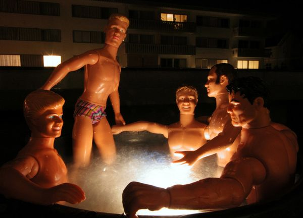 Using Ken dolls to create homoerotic images may not be the first thing someone thinks of when considering activist work -- bu