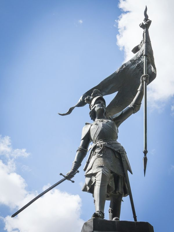 "<a href=""http://www.history.com/topics/saint-joan-of-arc"">Joan of Arc</a> grew up a peasant in medieval France and repor"