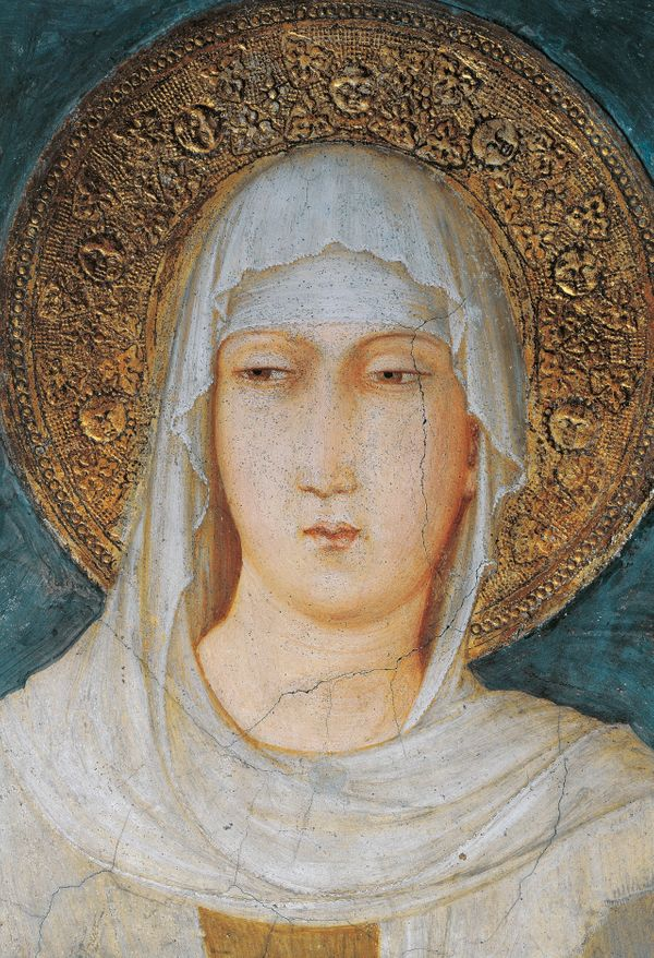 "<a href=""https://www.ewtn.com/saintsHoly/saints/C/stclareofassisi.asp"">Clare of Assisi</a> shunned a life of luxury in h"