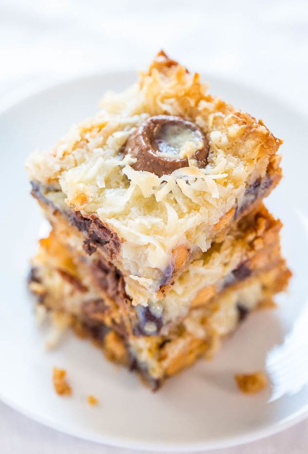 "<strong>Get the <a href=""http://www.averiecooks.com/2015/01/seven-layer-bars.html"" target=""_blank"">Seven Layer Bars recipe</a"