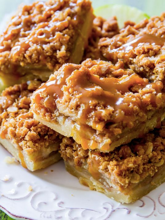 "<strong>Get the <a href=""http://sallysbakingaddiction.com/2014/07/03/salted-caramel-apple-pie-bars/"" target=""_blank"">Salted C"