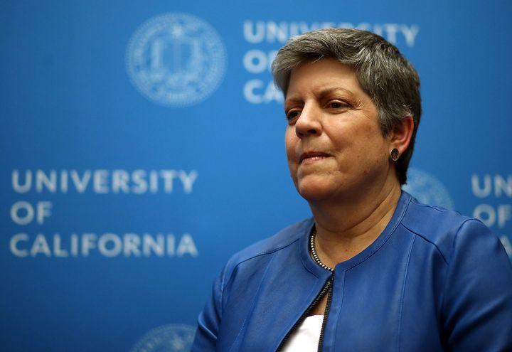 University of California PresidentJanet Napolitano.