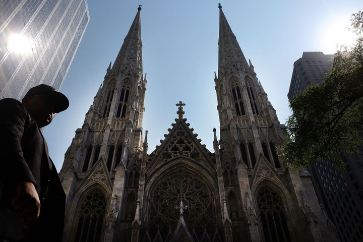 St. Patrick's Cathedral, the seat of the Roman Catholic Archdiocese of New York, is viewed on September 8, 2015 in New York C