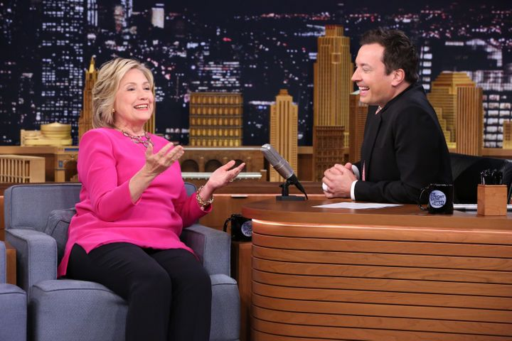 Hillary Clintondiscussed her private email server with Jimmy Fallon on Wednesday.