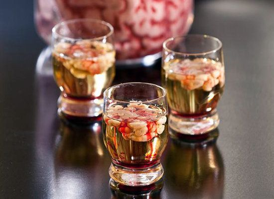"<strong>Get the <a href=""http://ministryofalcohol.com/2012/bloody-brain-shooter-recipe/"">Bloody Brain Shooter recipe</a> from"