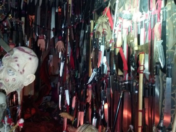 HOUSE OF HANGING DAGGERS: Cops said Nickole Dykema had 3,500 knives, swords and bladed weapons in her house.