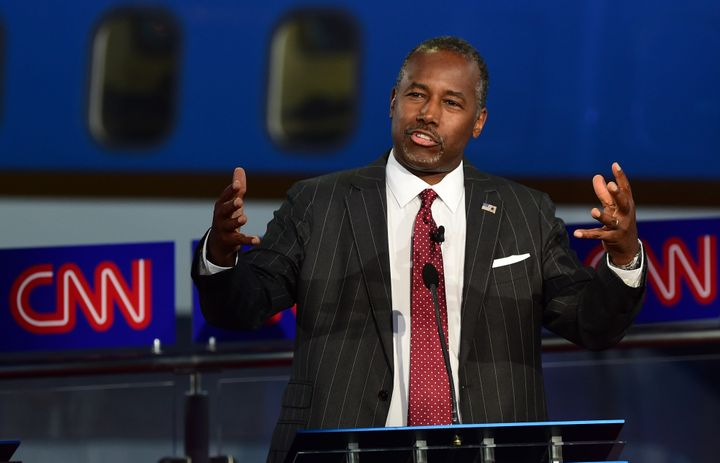 """Ben Carson's supporters in Iowa called him the """"anti-Trump"""" and praised his restrained demeanorduring Wednesday's GOP p"""