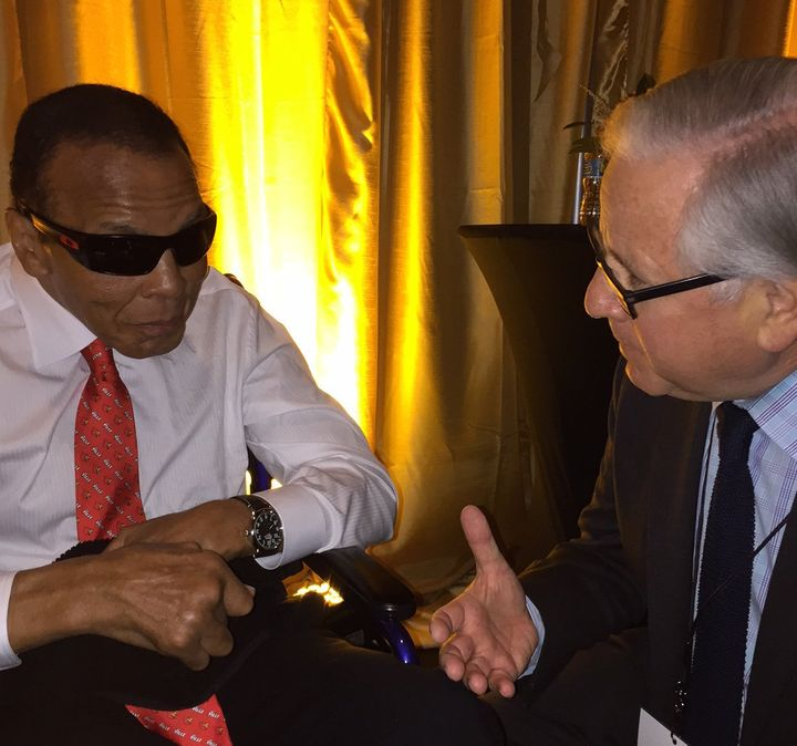 Muhammad Ali received an award for inspirational leadership on Sept. 17, 2015, in a ceremony emceed in part by The Huffington