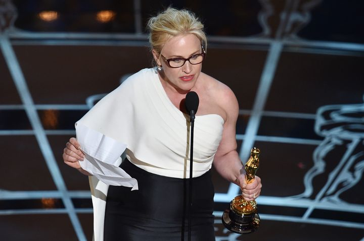 Patricia Arquette made an impassioned plea for wage equality during the 2015 Academy Awards.