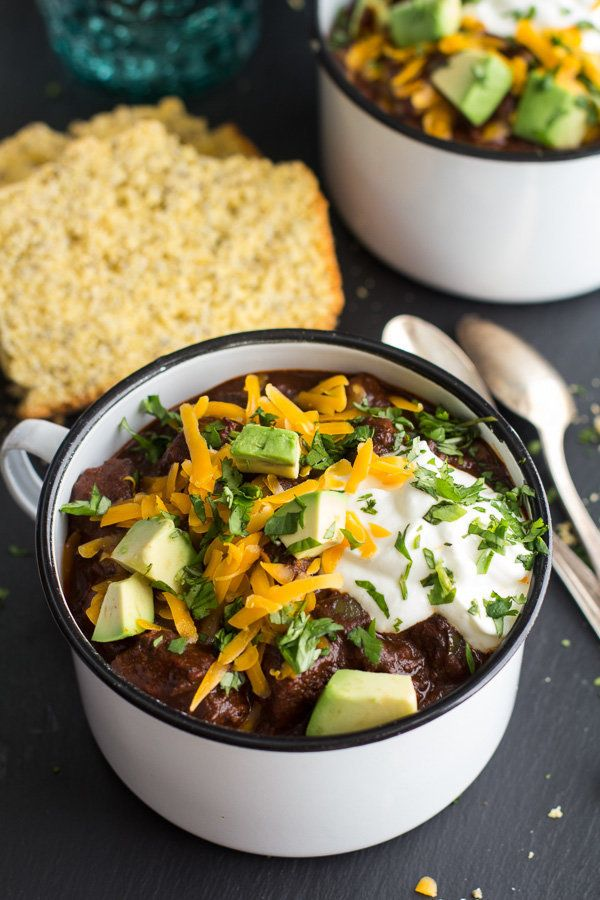 """<strong>Get the <a href=""""http://www.halfbakedharvest.com/big-time-jalapeno-lime-black-bean-texas-chili/"""" target=""""_blank"""">Big"""