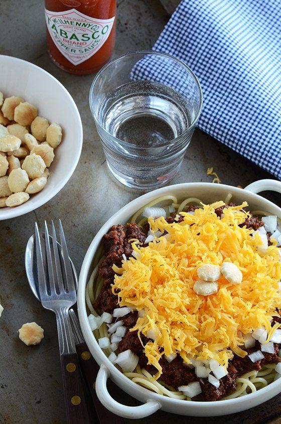 "<strong>Get the <a href=""http://www.anediblemosaic.com/?p=12368"" target=""_blank"">Cincinnati Chili recipe</a> from An Edible M"