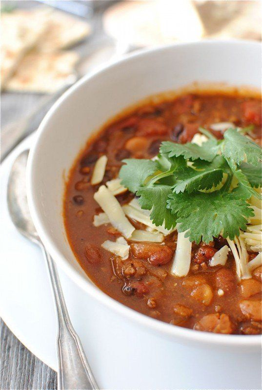 """<strong>Get the <a href=""""http://bevcooks.com/2011/11/classic-beef-and-bean-chili/"""" target=""""_blank"""">Classic Beef And Bean Chil"""