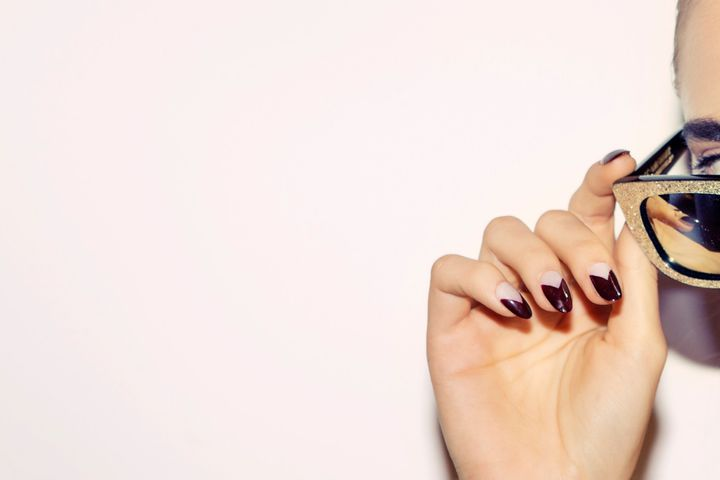 <i>French manicure at Cushnie et Ochs' Spring 2016 show at New York Fashion Week.</i>