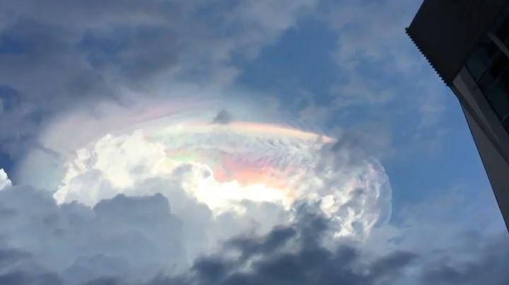Theiridescent cloud.