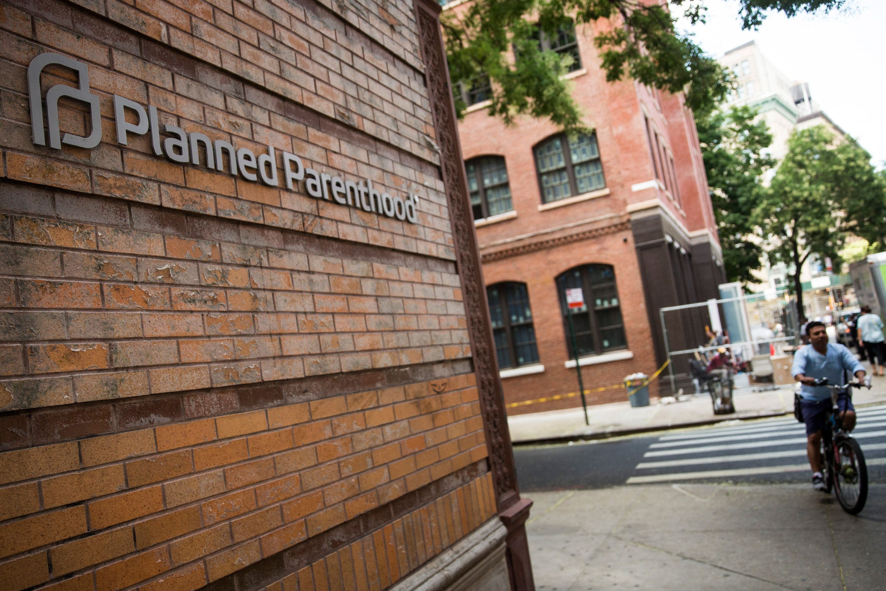 NEW YORK, NY - AUGUST 05:  A Planned Parenthood location is seen on August 5, 2015 in New York City. The women's health organization has come under fire from Republicans recently after an under cover video allegedly showed a Planned Parenthood executive discussing selling cells from aborted fetuses.  (Photo by Andrew Burton/Getty Images)