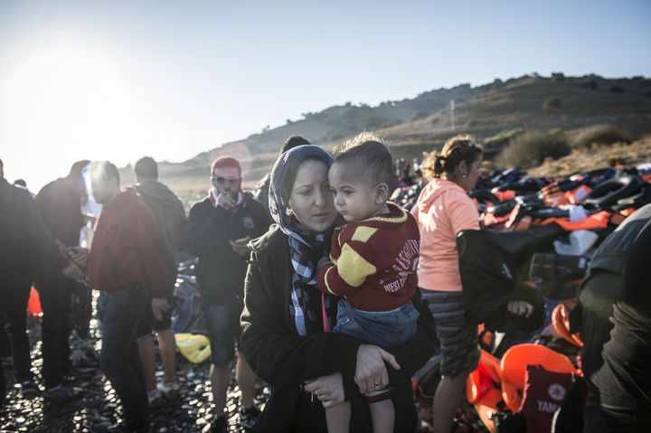 Hundreds of thousands of mainly Syrian refugees have crossedfrom Turkey to Greece's eastern islands this year.