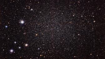 The Sculptor Dwarf Galaxy, pictured in a new image from the Wide Field Imager camera at European Southern Observatory's La Silla Observatory, is a close neighbor of our galaxy, the Milky Way.