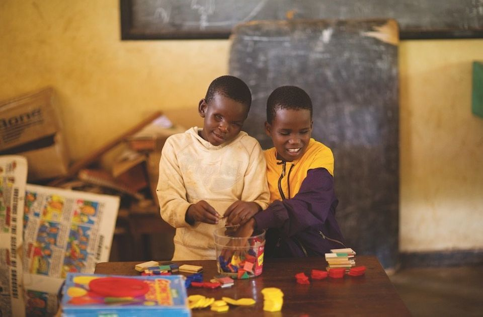 Susan Atimen is blind, and the 10-year-old is thriving at the Bishop Willis Primary School in Uganda. There, a program for ki