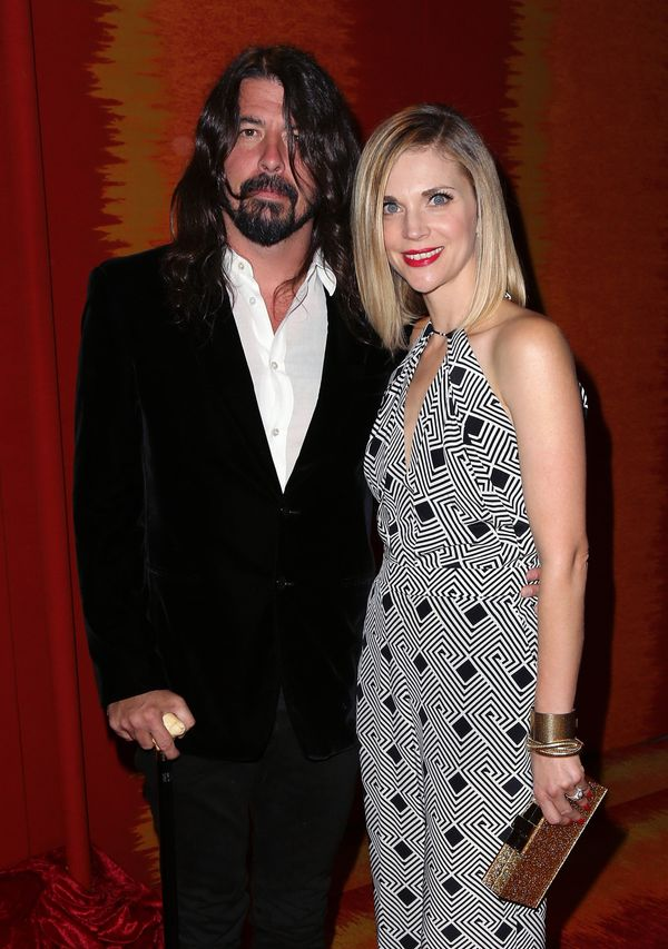 Musician Dave Grohl and wife Jordyn Blum attend HBO's Official 2015 Emmy After Party at The Plaza at the Pacific Design Cente