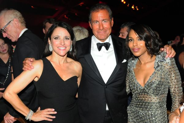 Actress Julia Louis-Dreyfus, Chairman and CEO of HBO Richard Plepler, and Kerry Washington attend HBO's Official 2015 Emmy Af