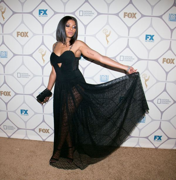 Taraji Henson arrives for the 67th Primetime Emmy Awards Fox After Party on Sept. 20, 2015, in Los Angeles, California.