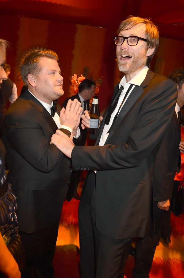 Actors James Corden and Stephen Merchant attend HBO's Official 2015 Emmy After Party at The Plaza at the Pacific Design Cente
