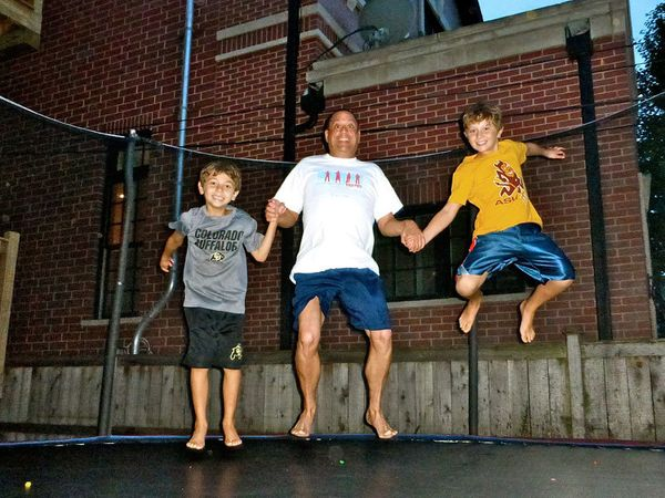 <strong>6:20 PM: Chicago, Illinois</strong>Andrew Espinosa: Fun on the trampoline with my nephews! Living with HIV since 1997