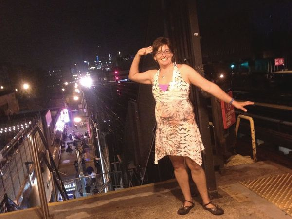 <strong>10:20 PM: The Bronx, New York</strong>Susanna Feder: After a New York Yankees win over Boston. Excited with a good fr