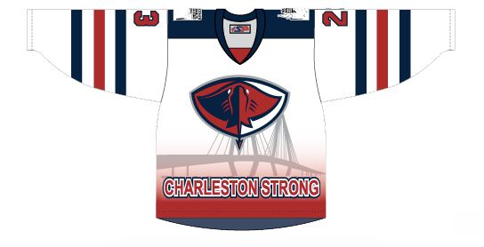 The front of the jersey that will be worn by Stingray players onOct. 17.