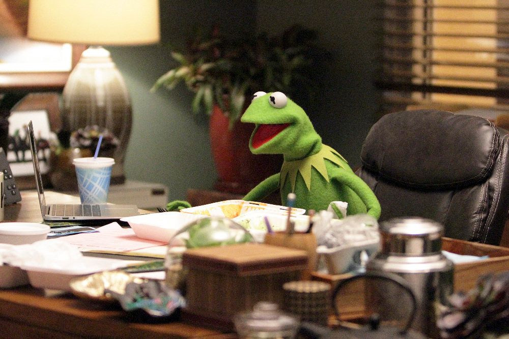Kermit in 'The Muppets.'