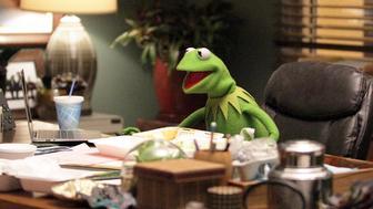 Kermit in 'The Muppets.'