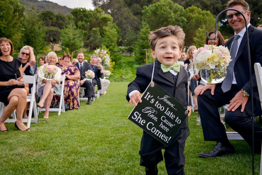 Captivating 8 Have Your Ring Bearer Hold A Cheeky Sign