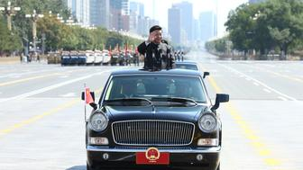 Xi Jinping inspects troops during a military parade in Beijing.