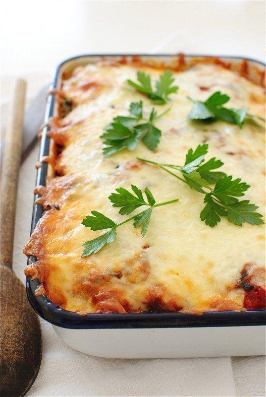 "<strong>Get the <a href=""http://bevcooks.com/2014/11/polenta-sausage-and-spinach-casserole/"" target=""_blank"">Polenta, Sausage"