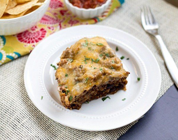 """<strong>Get the <a href=""""http://www.thisgalcooks.com/2013/08/27/quick-easy-cheesy-taco-casserole/"""" target=""""_blank"""">Quick And"""