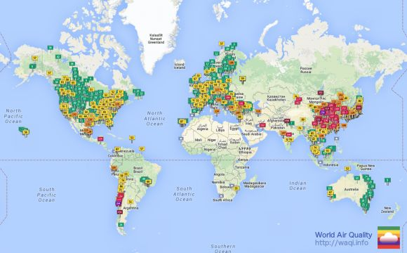 This Map Will Tell You If Your City's Pollution Could Affect Your