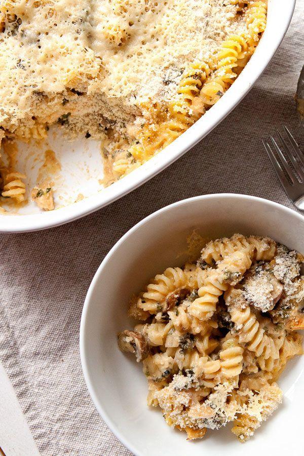 "<strong>Get the<a href=""http://www.macheesmo.com/homemade-tuna-noodle-casserole/"">Tuna Noodle Casserole recipe</a>&nbsp"