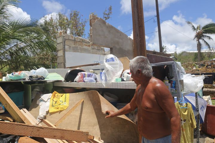 Like so many other residents of Saipan, Joe Rios lost his home after Typhoon Soudelor wrecked through the island.