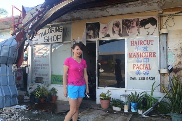 After the typhoon, many business owners did their best to resume their normal ways of life, despite a lack of electricity. Ac