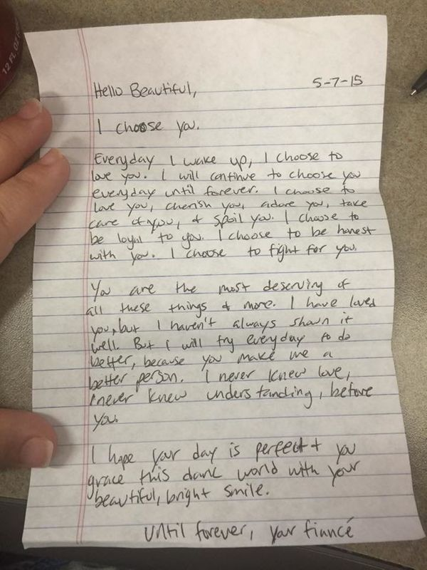 Write a love note to your wife