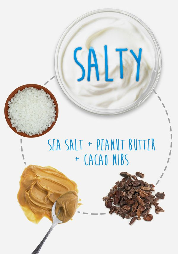 Salty Tangy, plain Greek yogurt is a surprisingly terrific match for salty flavors. Just a pinch of flaky sea salt can give y