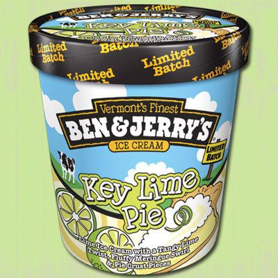 A tangy lime-and-meringue swirl with bits of pie crust are the stars of theKey Lime Pie ice cream flavor. Despite its p