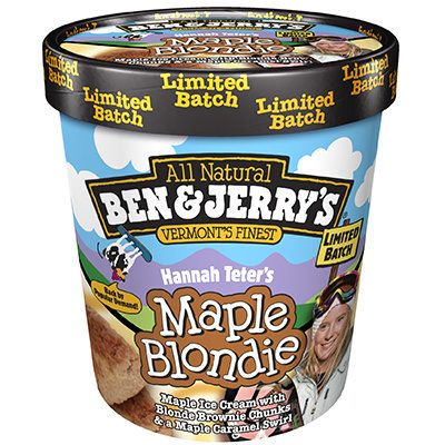 """The best awarda champion snowboarder could ever earn is her very own Ben & Jerry's flavor. Vermont native <a href="""""""
