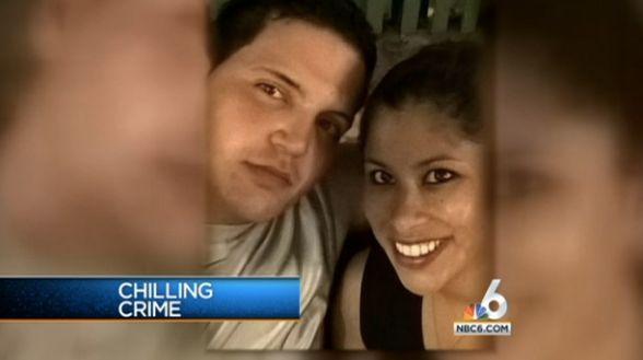 Accused killer Fidel Lopez and his girlfriend Maria Nemeth, now