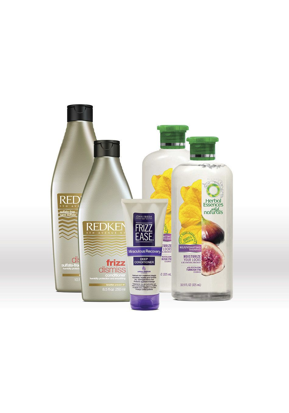 <b>Mane Problems</b> <br> Frizz, dryness <br><br> <b>You Need...</b> <br> Hydrating shampoo and conditioner. On the ingredien