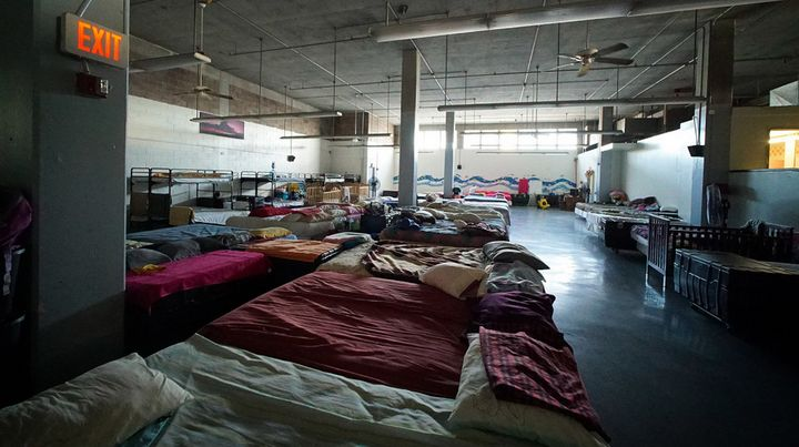 Beds at the Institute of Human Services Sumner women's shelter.