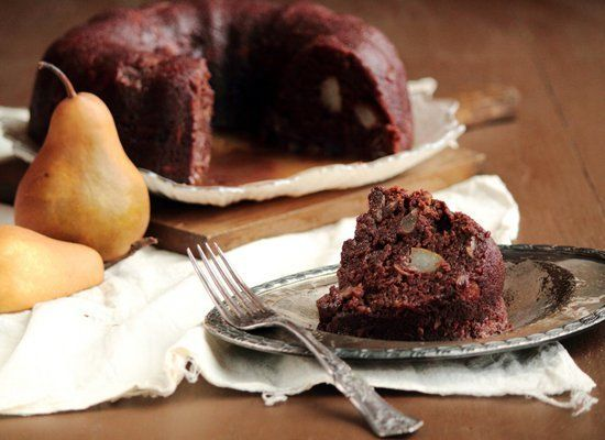 """<strong>Get the <a href=""""http://www.pastryaffair.com/blog/2011/10/9/pear-almond-chocolate-spice-cake.html"""" target=""""_hplink"""">P"""
