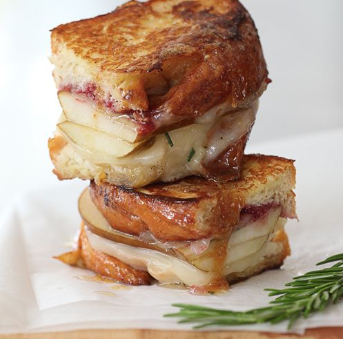 19 sweet pear and rosemary honey with havarti grilled cheese